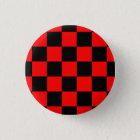 Button Karo schwarz/rot