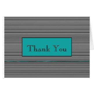 Button-Streifen-Geschäft danken Ihnen Mitteilungskarte