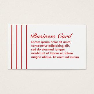 Button-Streifen-Rot + Kundenspezifische Farbe Visitenkarte