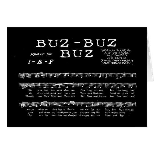 BUZ-BUZ-BUZ ~ LIED DER I-B-F ANMERKUNGS-KARTE MITTEILUNGSKARTE