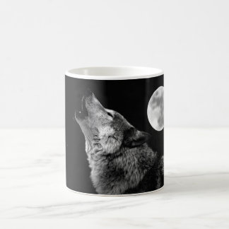 BW-Wolf, der am Mond heult Kaffeetasse