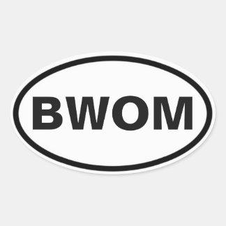 BWOM Internationalzeichen Ovaler Aufkleber