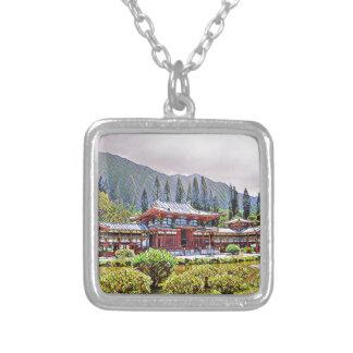 Byodo-Im Tempel Oahu Halskette Mit Quadratischem Anhänger