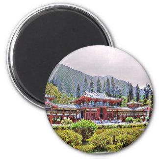 Byodo-Im Tempel Oahu Runder Magnet 5,1 Cm