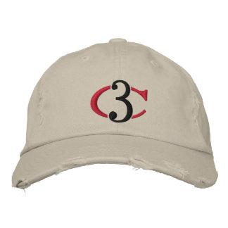 C3 Logo beunruhigter Chino justierbarer Hut