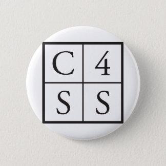 C4SS quadriert Runder Button 5,1 Cm