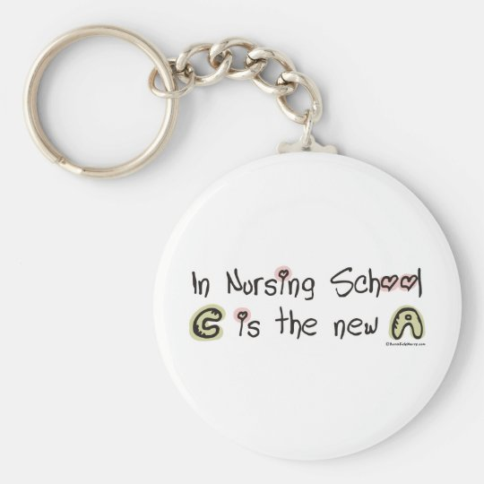 C ist das neue A in der Krankenpflege-Schule Standard Runder Schlüsselanhänger