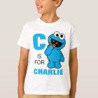C ist für Plätzchen-Monster, das | Ihren Namen T-Shirt