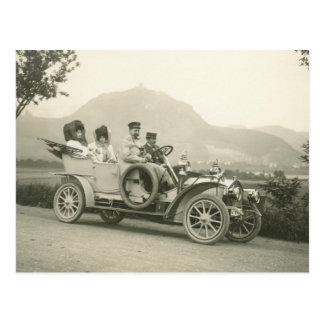 c-Reisewagen 1907 oder -phaeton Postkarte