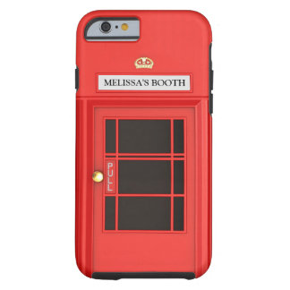 Cabine téléphonique britannique d'Oldschool Coque Tough iPhone 6