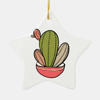 Cactus Vektor illustration. Hand drawn. Cactus pla Keramik Stern-Ornament