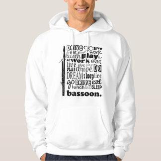 Cadeau de musique de basson de la vie de sweatshirts avec capuche