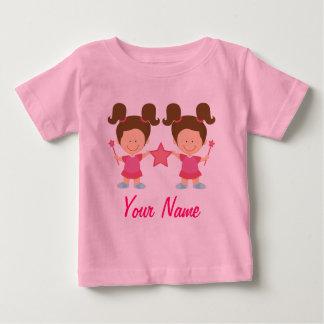 Cadeau personnalisé par fille jumelle t-shirt pour bébé