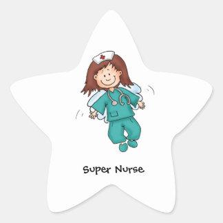 Cadeau pour des infirmières - personnalisez avec sticker étoile