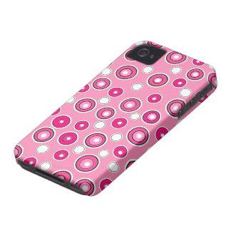Cadeau rose et blanc de nouvelle caisse mignonne d coques iPhone 4 Case-Mate