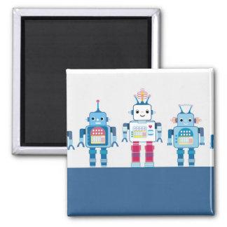 Cadeaux bleus et rouges frais de nouveauté de robo magnet carré