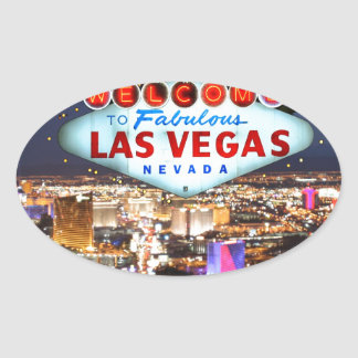 Cadeaux de Las Vegas Autocollant Ovale