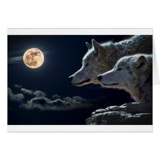 Cadeaux de loup carte de vœux
