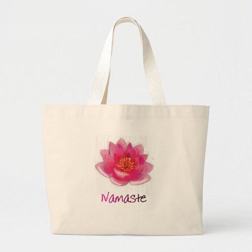 """Cadeaux de yoga de """"Namaste"""" de fleur de Lotus Sacs"""