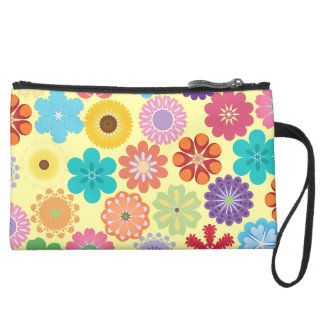 Cadeaux floraux colorés Girly de motif de flower p Pochette Avec Poignée