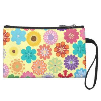 Cadeaux floraux colorés Girly de motif de flower Poignée