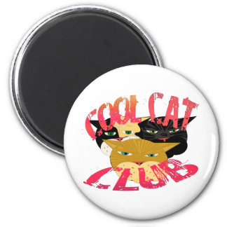 Cadeaux frais et salutations de club de chat magnet rond 8 cm