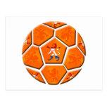 Cadeaux néerlandais néerlandais de ballon de footb cartes postales
