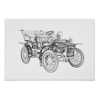 Cadillac 1907 vorbildliches M Poster