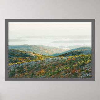 Cadillac-Berg im Fall, Acadia-Nationalpark Poster
