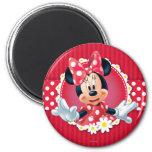 Cadre de fleur de Minnie Magnets Pour Réfrigérateur