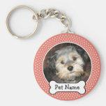 Cadre de photo d'animal familier d'os de chien et  porte-clef