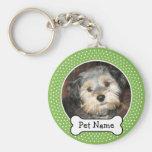 Cadre de photo d'animal familier d'os de chien et  porte-clés
