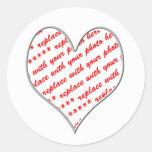 Cadre de photo de Valentine Autocollant Rond