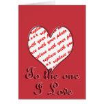 Cadre de photo de Valentine Carte De Vœux