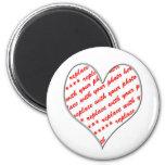 Cadre de photo de Valentine Magnets Pour Réfrigérateur