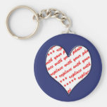 Cadre de photo de Valentine Porte-clefs