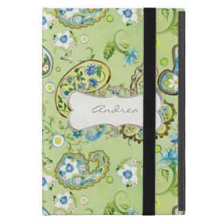 Cadre floral de très bon goût moderne de remous de étui iPad mini