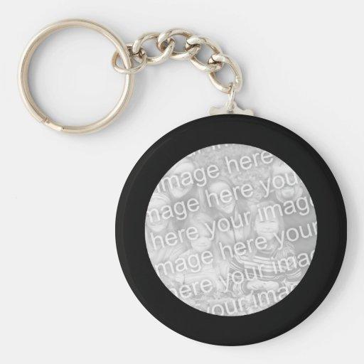 Cadre noir Keychain Porte-clé Rond