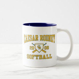 Caesar Rodney Softball-Tasse 2008 Zweifarbige Tasse