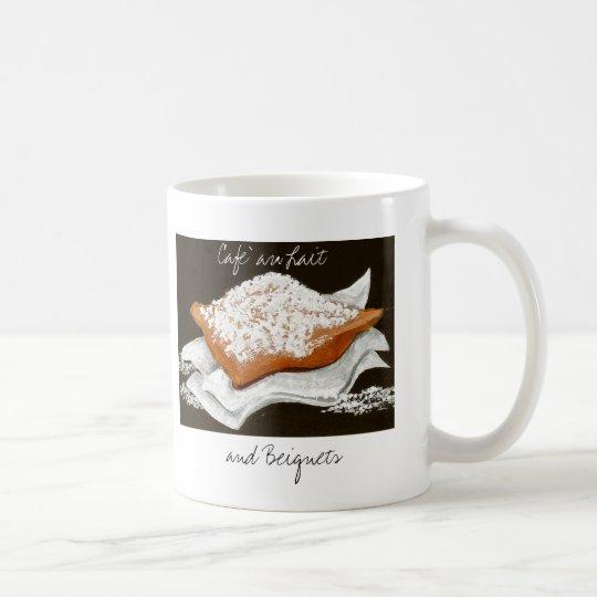 Cafe Au Lait und Beignets Tasse