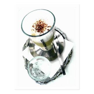 Café Latte Verlegenheit Postkarte