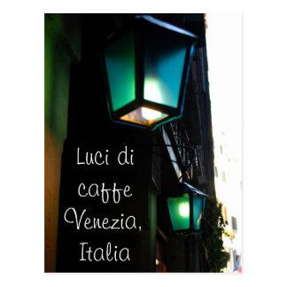 Café-Lichter in Venedig Postkarte