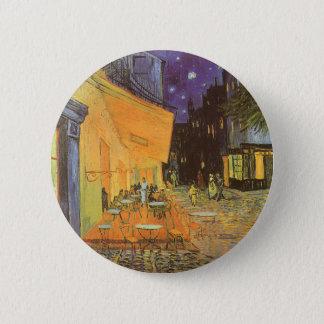 Café-Terrasse nachts durch Vincent van Gogh Runder Button 5,7 Cm