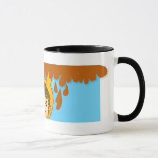 Caffe zerteilt tasse