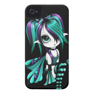 Caisse audacieuse Aqua-Pourpre de Lyssa Fae Blackb Coque iPhone 4