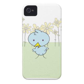 Caisse audacieuse de Blackberry de birdie bleue mi Étuis iPhone 4