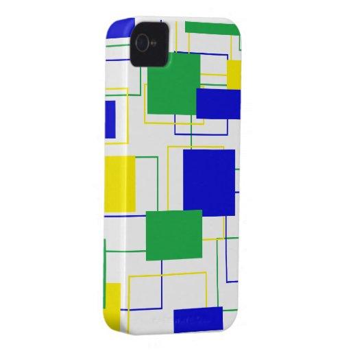 Caisse audacieuse de Blackberry de carrés mignons Coque Case-Mate iPhone 4