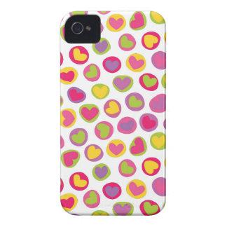 Caisse audacieuse de Blackberry de coeur mignon Étui iPhone 4