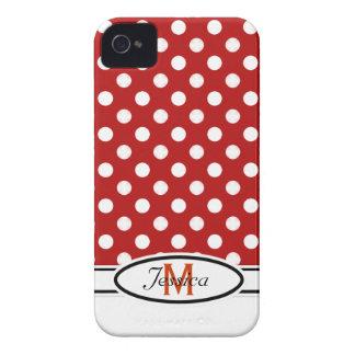 Caisse audacieuse de Blackberry de monogramme à po Coques iPhone 4
