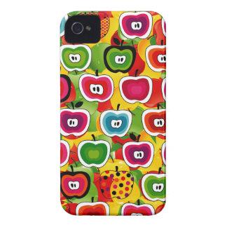 Caisse audacieuse de Blackberry de motifs colorés  Étui iPhone 4